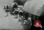 Image of Wagon trains of pioneers moving west United States USA, 1954, second 58 stock footage video 65675032789