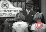 Image of Hollywood Actor give autographs Los Angeles California USA, 1936, second 52 stock footage video 65675032817
