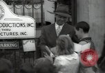 Image of Hollywood Actor give autographs Los Angeles California USA, 1936, second 55 stock footage video 65675032817