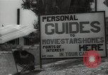 Image of Tour service for Hollywood stars homes Hollywood California USA, 1936, second 13 stock footage video 65675032819