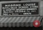 Image of signs Hollywood Los Angeles California USA, 1932, second 58 stock footage video 65675032826
