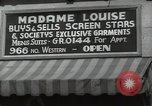 Image of signs Hollywood Los Angeles California USA, 1932, second 61 stock footage video 65675032826