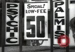 Image of signs Hollywood Los Angeles California USA, 1932, second 40 stock footage video 65675032827