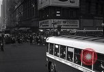 Image of Midtown Manhattan busy street scenes New York City USA, 1948, second 14 stock footage video 65675032835