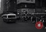 Image of Midtown Manhattan busy street scenes New York City USA, 1948, second 19 stock footage video 65675032835