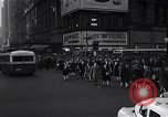 Image of Midtown Manhattan busy street scenes New York City USA, 1948, second 21 stock footage video 65675032835