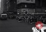 Image of Midtown Manhattan busy street scenes New York City USA, 1948, second 22 stock footage video 65675032835