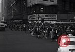 Image of Midtown Manhattan busy street scenes New York City USA, 1948, second 24 stock footage video 65675032835
