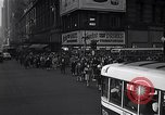 Image of Midtown Manhattan busy street scenes New York City USA, 1948, second 27 stock footage video 65675032835
