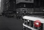 Image of Midtown Manhattan busy street scenes New York City USA, 1948, second 28 stock footage video 65675032835