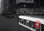 Image of Midtown Manhattan busy street scenes New York City USA, 1948, second 29 stock footage video 65675032835