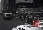 Image of Midtown Manhattan busy street scenes New York City USA, 1948, second 38 stock footage video 65675032835