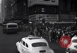 Image of Midtown Manhattan busy street scenes New York City USA, 1948, second 39 stock footage video 65675032835