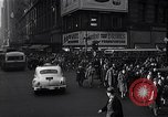 Image of Midtown Manhattan busy street scenes New York City USA, 1948, second 41 stock footage video 65675032835
