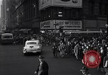Image of Midtown Manhattan busy street scenes New York City USA, 1948, second 42 stock footage video 65675032835