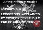 Image of Colonel Charles Augustus Lindberh Moscow Russia Soviet Union, 1933, second 1 stock footage video 65675032948
