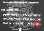 Image of States Theater Richmond Virginia USA, 1933, second 2 stock footage video 65675032949