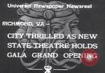 Image of States Theater Richmond Virginia USA, 1933, second 7 stock footage video 65675032949