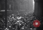 Image of Crowds in New York City celebrate end of World War II in Europe New York City USA, 1945, second 2 stock footage video 65675032951
