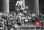 Image of Crowds in New York City celebrate end of World War II in Europe New York City USA, 1945, second 4 stock footage video 65675032951