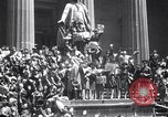 Image of Crowds in New York City celebrate end of World War II in Europe New York City USA, 1945, second 5 stock footage video 65675032951