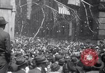Image of Crowds in New York City celebrate end of World War II in Europe New York City USA, 1945, second 8 stock footage video 65675032951