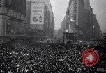 Image of Crowds in New York City celebrate end of World War II in Europe New York City USA, 1945, second 12 stock footage video 65675032951