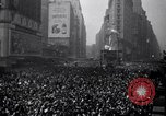 Image of Crowds in New York City celebrate end of World War II in Europe New York City USA, 1945, second 13 stock footage video 65675032951