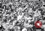 Image of Crowds in New York City celebrate end of World War II in Europe New York City USA, 1945, second 15 stock footage video 65675032951