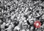 Image of Crowds in New York City celebrate end of World War II in Europe New York City USA, 1945, second 16 stock footage video 65675032951
