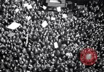 Image of Crowds in New York City celebrate end of World War II in Europe New York City USA, 1945, second 18 stock footage video 65675032951