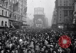 Image of Crowds in New York City celebrate end of World War II in Europe New York City USA, 1945, second 19 stock footage video 65675032951
