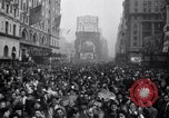Image of Crowds in New York City celebrate end of World War II in Europe New York City USA, 1945, second 20 stock footage video 65675032951