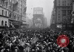 Image of Crowds in New York City celebrate end of World War II in Europe New York City USA, 1945, second 21 stock footage video 65675032951
