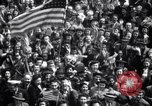Image of Crowds in New York City celebrate end of World War II in Europe New York City USA, 1945, second 22 stock footage video 65675032951