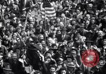 Image of Crowds in New York City celebrate end of World War II in Europe New York City USA, 1945, second 23 stock footage video 65675032951