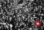 Image of Crowds in New York City celebrate end of World War II in Europe New York City USA, 1945, second 24 stock footage video 65675032951