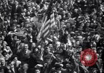 Image of Crowds in New York City celebrate end of World War II in Europe New York City USA, 1945, second 25 stock footage video 65675032951