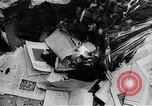Image of burning books during the Hungarian Revolution Hungary, 1956, second 7 stock footage video 65675033230