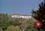 Image of Hollywood sign Hollywood Los Angeles California USA, 1976, second 8 stock footage video 65675033262