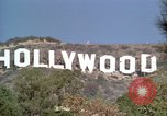 Image of Hollywood sign Hollywood Los Angeles California USA, 1976, second 16 stock footage video 65675033262