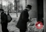 Image of Newsstand in British Sector of Berlin Berlin Germany, 1947, second 42 stock footage video 65675033268