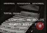 Image of Mrs Mary C Hettinger Tiffin Ohio USA, 1932, second 9 stock footage video 65675033277