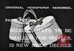 Image of hats Paris France, 1932, second 2 stock footage video 65675033278