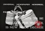 Image of hats Paris France, 1932, second 3 stock footage video 65675033278