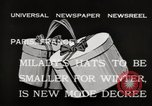 Image of hats Paris France, 1932, second 6 stock footage video 65675033278