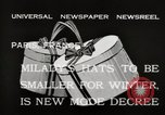 Image of hats Paris France, 1932, second 8 stock footage video 65675033278