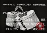Image of hats Paris France, 1932, second 11 stock footage video 65675033278