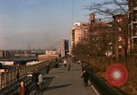 Image of Pedestrians on Brooklyn Queens Expressway New York City USA, 1965, second 2 stock footage video 65675033342
