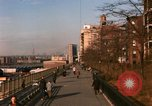 Image of Pedestrians on Brooklyn Queens Expressway New York City USA, 1965, second 3 stock footage video 65675033342